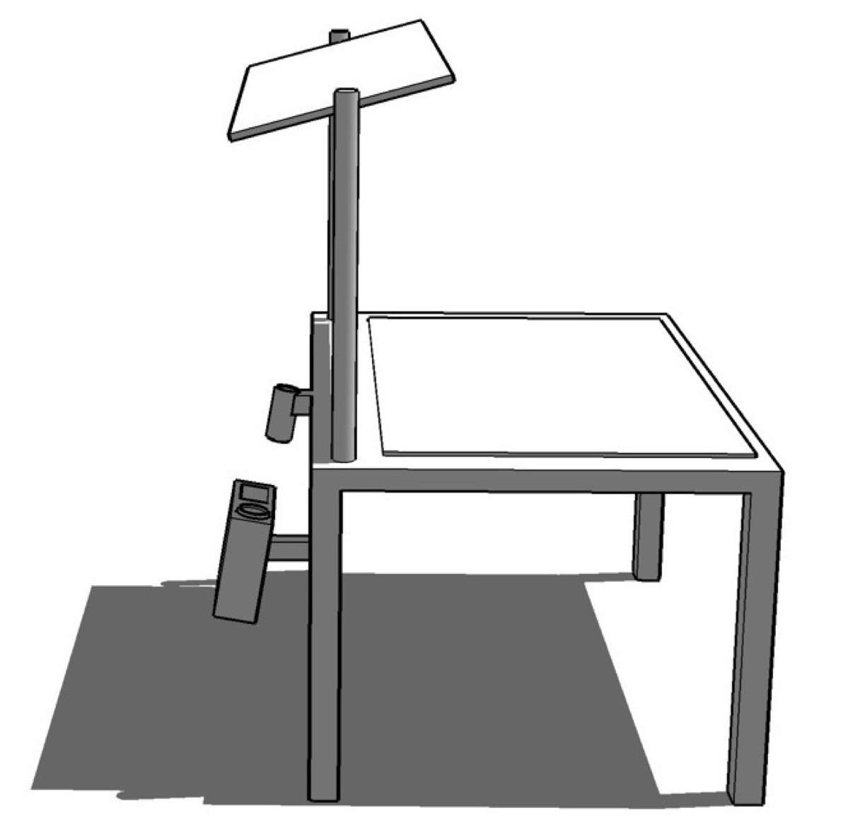 Diagram of the interactive table prototype.