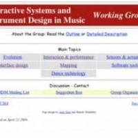 Working Group: Interactive Systems and Instrument Design in Music